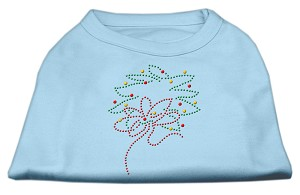 Christmas Wreath Rhinestone Shirt Baby Blue L (14)